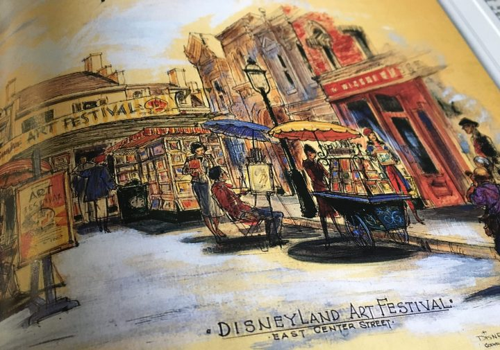 One of John's original ideas for creating a draw to the space near what is today an ice cream shop on Main Street USA at Disneyland