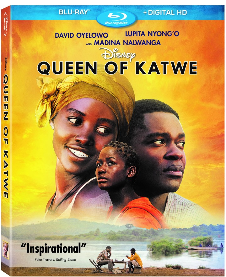 QUEEN OF KATWE starring David Oyelowo, Lupita N'yongo, and newcomer Madina Nalwanga available on Blu-Ray on 1/31 (already available on Digital HD)