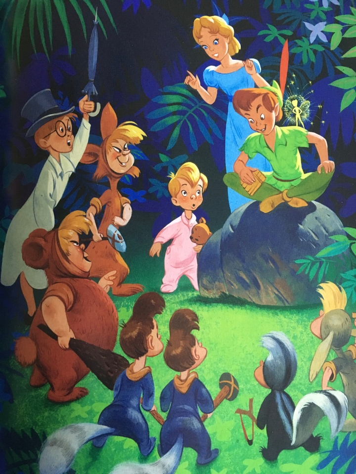 Even Disney Legend John Hench contributed to the history of Disney Golden Books with his rendition of Peter Pan
