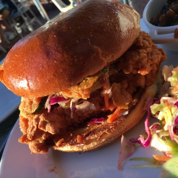 Close up of my tasty Fried Chicken Sandwich. Is your mouth watering?