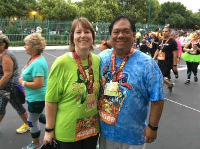 My wife and I after our Disneyland 5K run - triumphant in the end