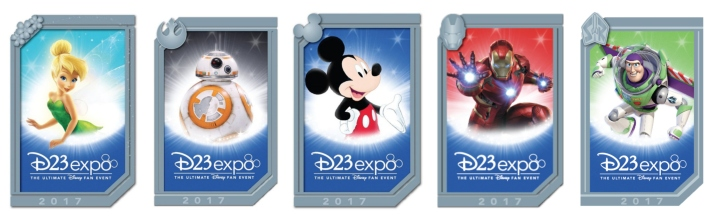 New D23 Expo poster pins