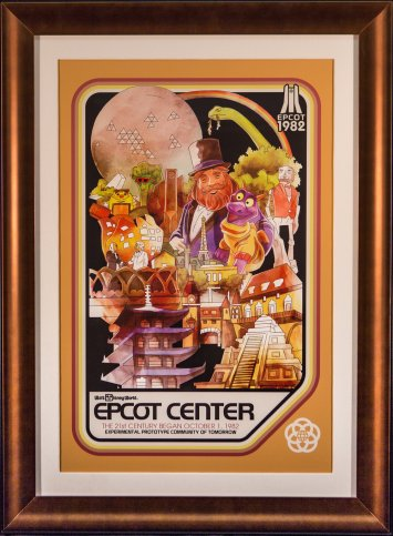 Epcot anniversary poster