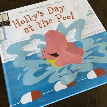 Benson's book debut is the Artist Showcase Holly's Day at the Pool - a very cute book for kids