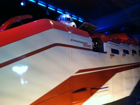 "The ""new"" Starspeeder 1000 in Star Tours"