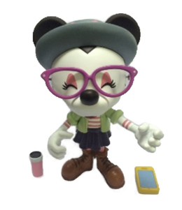 "Hipster Minnie 9"" figurine joins Mickey!"