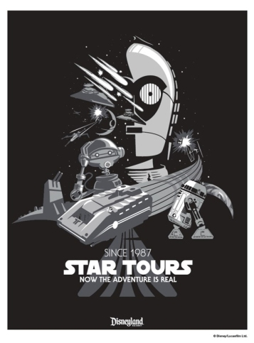 Star Tours anniversary poster
