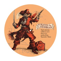 Pirates of the Caribbean attraction disc celebrating 50 years