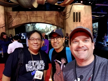 Hanging out at Star Wars: Galaxy's Edge with Mark and John