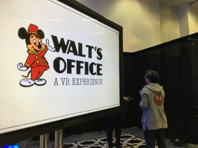 Amazing VR experience in Walt's Office