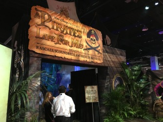 Entering the Walt Disney Archives exhibit on Pirates and Disney