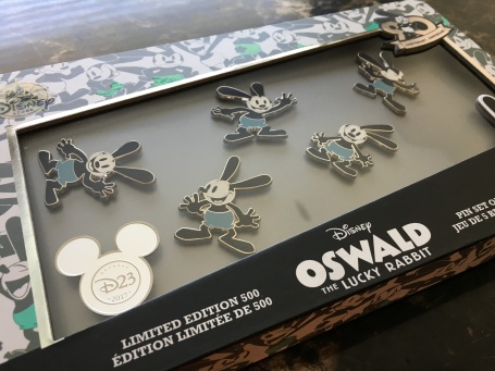 Oswald the Lucky Rabbit pin set - only 500