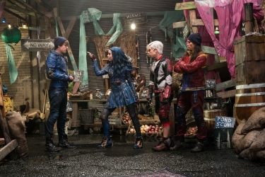 "DESCENDANTS 2 - ""Descendants 2"" premieres JULY 21 (8:00 pm ET) on six networks -- Disney Channel, ABC, Freeform, Disney XD, Lifetime and Lifetime Movies Network. (Disney Channel/David Bukach) MITCHELL HOPE, SOFIA CARSON, CAMERON BOYCE, BOOBOO STEWART"