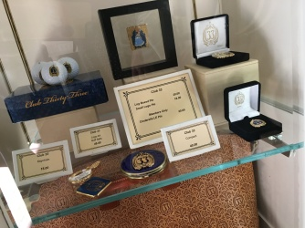 Selection of souvenir items for purchase