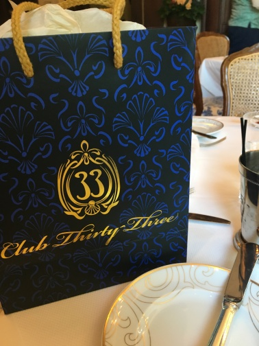 How can you NOT walk away with souvenirs from Club 33?