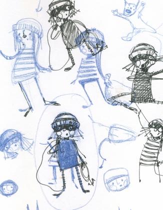 More sketch art of Beatrice in development