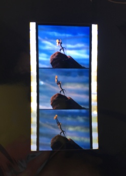 Film strip from the opening sequence to The Lion King