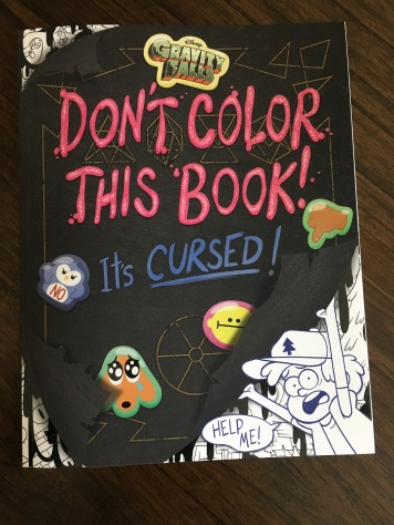 The cover of the book you're not supposed to color