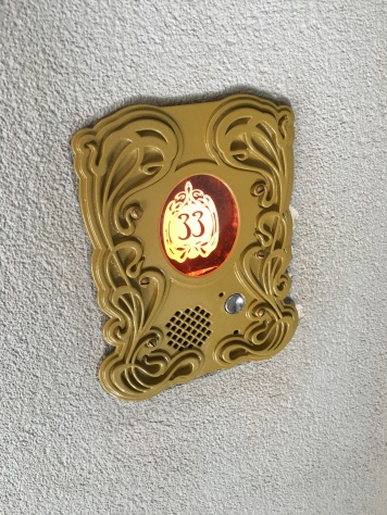 The call button next to the door at 33 Orleans Street