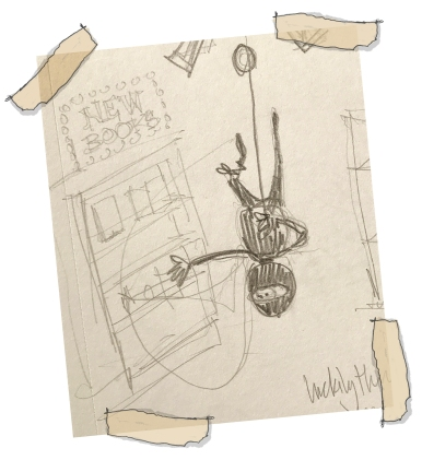 Early concept art for Beatrice as she was being developed