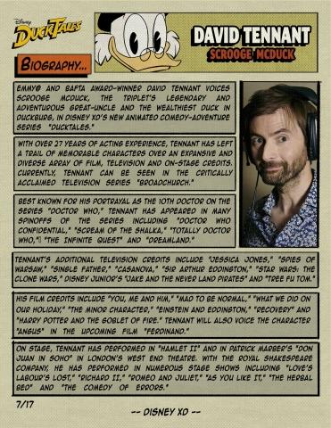 """DUCKTALES - Comic Book Bios - Disney XD's """"DuckTales"""" stars David Tennant as Scrooge McDuck. (Disney XD)"""