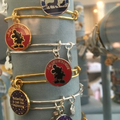 An assortment of different Disney bangles