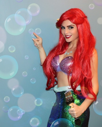 Another favorite cosplay for Samantha is Ariel