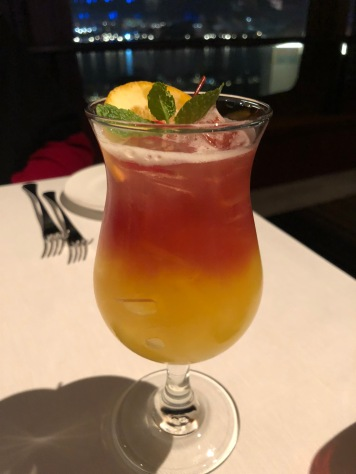 I think this was called the sunrise drink? Non-alcoholic and yummy
