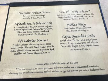 As described in the original menu from Cove Bar
