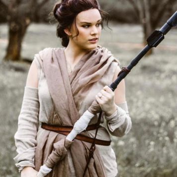 Heather feels a connection to Rey's character and is enjoying how Star Wars is embracing more female characters to connect with
