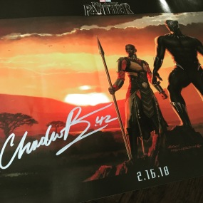 Autographed poster from Chadwick Boseman and Ryan Coogler was one of the highlights of the Expo for me