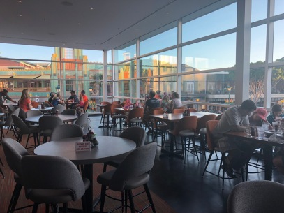 The interior view from the 2nd floor of Splitsville in Anaheim