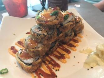 My Tempura Samurai Roll which was really good, but not what I was expecting.