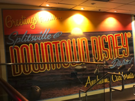 One of the nicely decorated walls inside Splitsville Anaheim