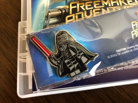 Cool LEGO Darth Vader pin comes with the DVD release of The Freemaker Adventures Season 2