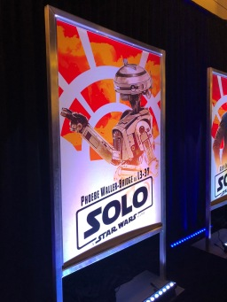 Poster for Solo: A Star Wars Story featuring Phoebe Waller-Bridge's character, L3