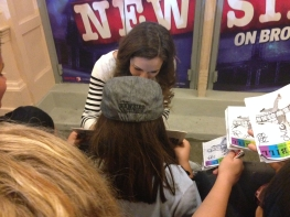 Getting an autograph from Liana Hunt