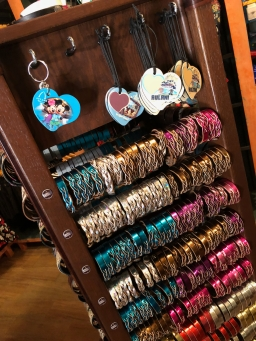 Personalized Aulani leather items at The Lava Shack