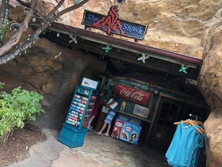The Lava Shack is located near the pools and lazy river