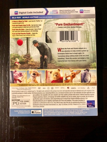 Rear cover of the Blu-Ray for Christopher Robin