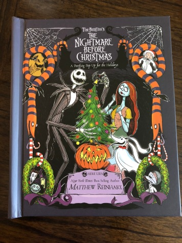 The cover of Matthew Reinhart's newest Disney book The Nightmare Before Christmas