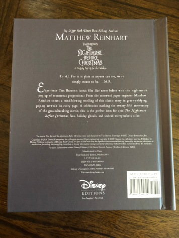 The back of Matthew's book