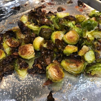 Brussels sprouts after being cooked
