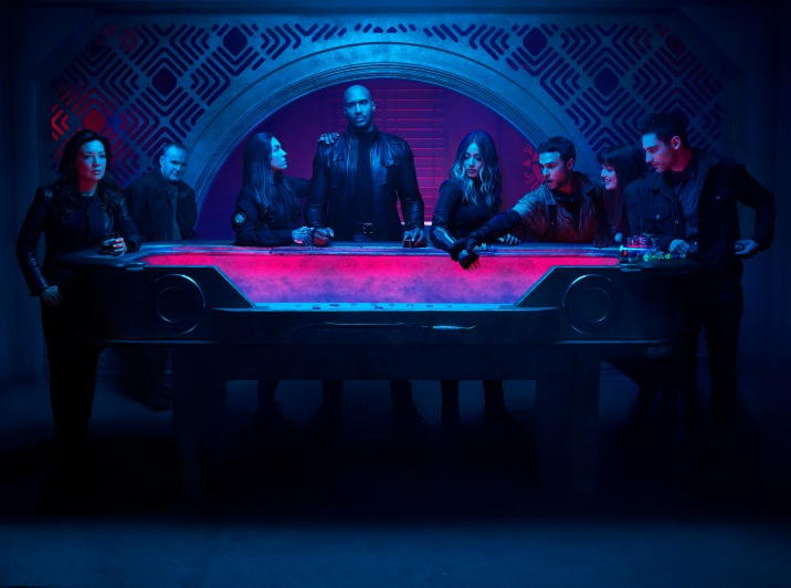 "MARVEL'S AGENTS OF S.H.I.E.L.D. - ABC's ""Marvel's Agents of S.H.I.E.L.D."" stars Ming-Na Wen as Agent Melinda May, Clark Gregg as Sarge, Natalia Cordova-Buckley as Elena ""Yo-Yo"" Rodriguez, Henry Simmons as Director Alphonso ""Mack"" MacKenzie, Chloe Bennet as Daisy Johnson, Iain De Caestecker as Agent Leo Fitz, Elizabeth Henstridge as Agent Jemma Simmons, and Jeff Ward as Deke Shaw. (ABC/Matthias Clamer)"