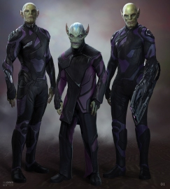 Different versions of Skrulls - more like Skrull ethnicities?