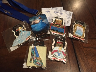 Our haul from the Cinderella Pin Trading Event run by DSSH back in 2015