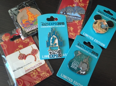 Our 2015 D23 Expo pin haul from MOG and the Dream Store