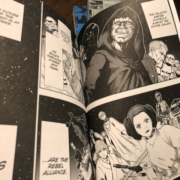 Love the manga rendering of our favorite Star Wars characters